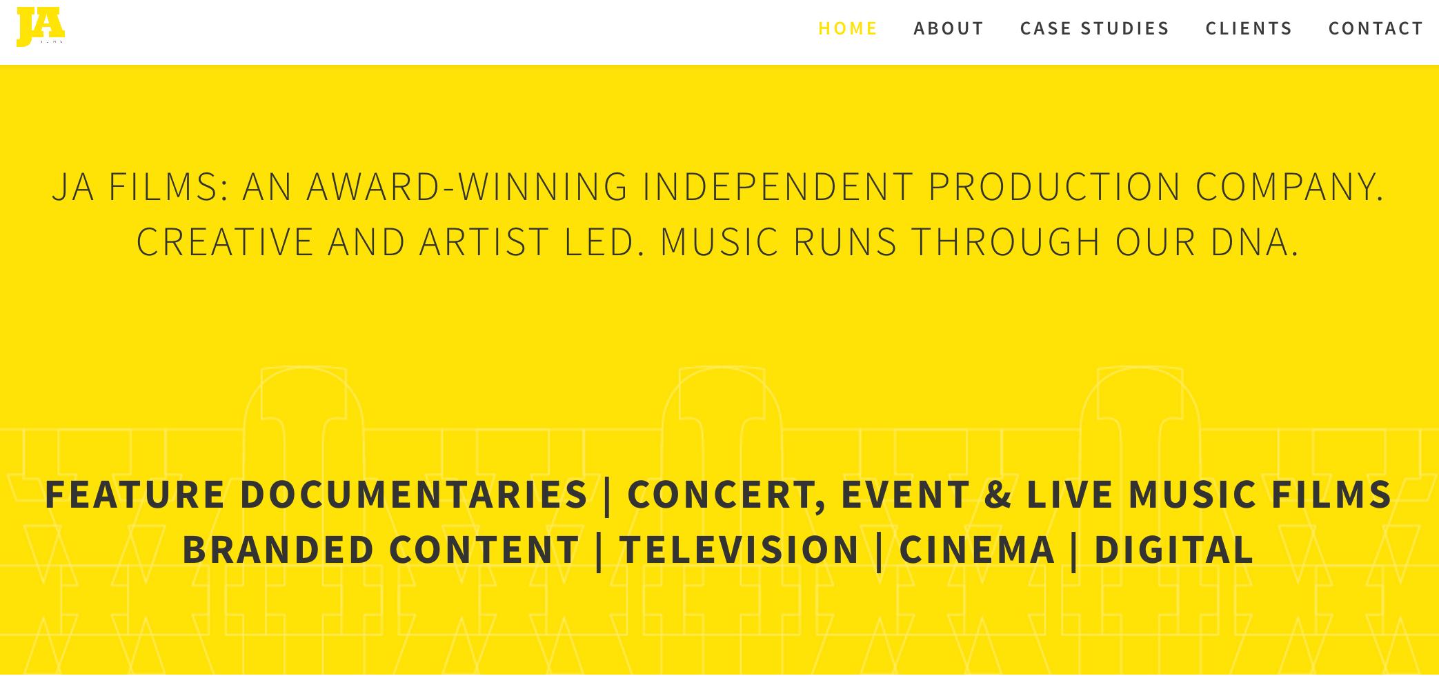 Ja Films - JA Films Website Copywriting